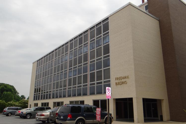 Cone Health recently purchased the Freeman Building, pictured above, on Pasteur Drive for $2.2 million to eventually make space to expand or replace its Behavioral Health Hospital.