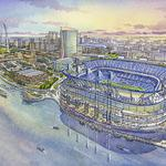 Plan unveiled for outdoor NFL stadium on St. Louis' north riverfront