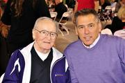 Present at Medical Teams International's fundraiser at Safeco Field: from left, former University of Washington Husky football coach Don James and former Seahawk and famed NFL quarterback coach Jim Zorn.