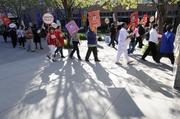 The Hotel Employees and Restaurant Employees rallied in front of the Sacramento Convention Center during rush hour in late March to highlight complaints that employees of Classique Catering, which runs the food service, hadn't received an across-the-board raise in nearly three years.  From the story: Convention Center's catering staff rallies for higher wages