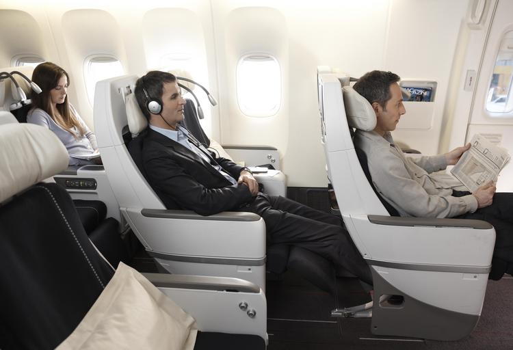 With Air France's premium economy service, passengers receive priority check-in at separate counters, more free checked bags, upgraded in-flight meals, in-flight amenities bags and, most importantly, much better seats.