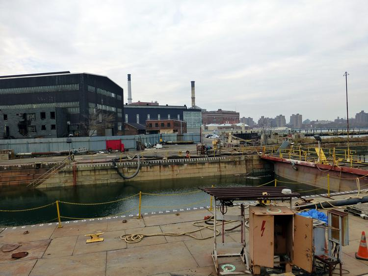 The Brooklyn Navy Yard is home to an industrial center, but also does tours.