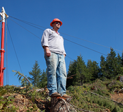 Kirk Luoto, who owns Cross & Crown Inc. with his father, Bob, says the industry is on the rebound. The Luotos have invested $3 million in new equipment to keep up with rising demand for their logging services.