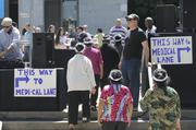 """An enthusiastic crowd of health care execs, providers, home care workers and others jammed the west side of the Capitol on Tuesday to show """"We are Medi-Cal"""" and convince lawmakers to approve legislation to roll back cuts estimated at $1 billion."""