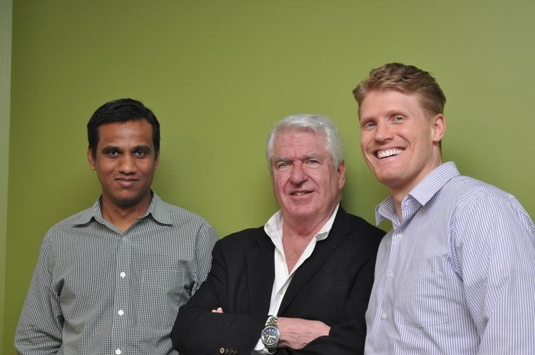 Bitsight co-founder Nagarjuna Venna, CEO Shaun McConnon and co-founder Stephen Boyer. Venna and Boyer worked together at another risk-management tech startup, before founding BitSight, which came out of stealth mode Wednesday.