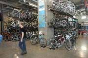 SPOKES FOR SALE: The full-service Velo Bike Shop is just one of many bike friendly features at 654-unit Via6 apartment complex in Seattle's Denny Regrade area.