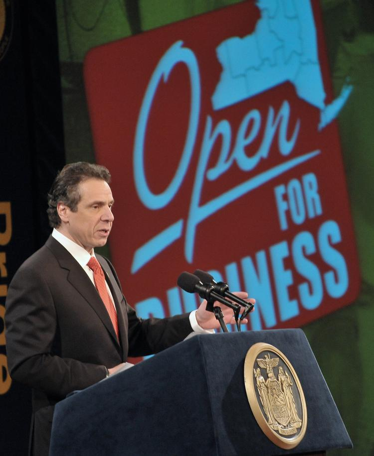 Gov. Andrew Cuomo's tax-cutting commission proposed a $2 billion tax relief package today during a news conference on Long Island.