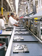 Some of the new Lenovo computers that are being produced and assembled in Whitsett. Lenovo held an official grand opening of the company's first U.S. computer manufacturing line that creates 115 new jobs in Guilford County.