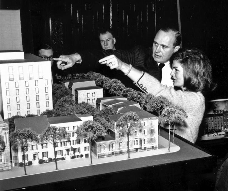 First lady Jacqueline Kennedy backed preserving Lafayette Square buildings in 1962.
