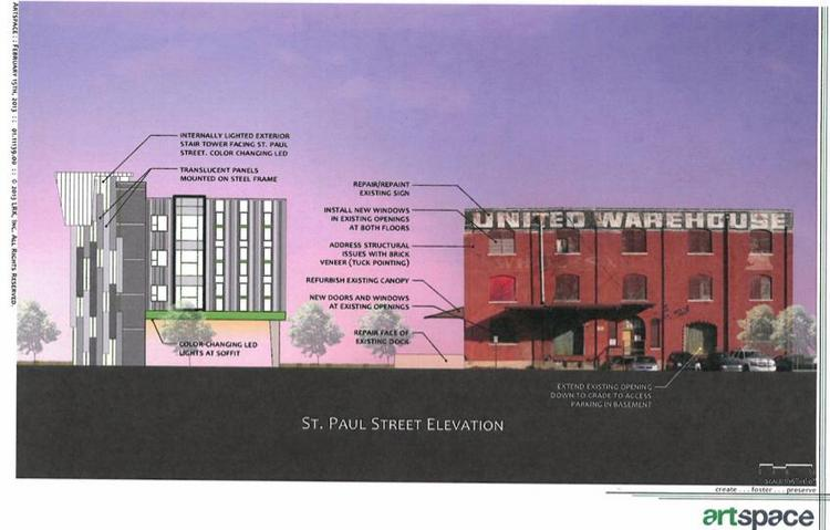Renderings of the South Main Artspace Lofts project in Memphis, Tenn.