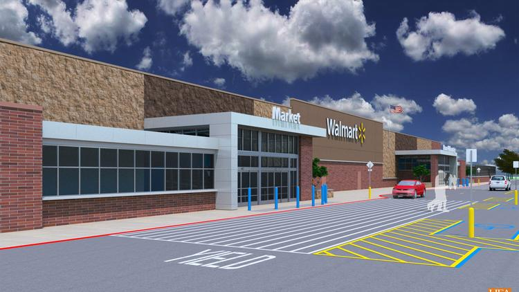 The Walmart Will Have A Food Market, Garden Center And Pharmacy.
