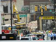 The destruction at 22nd and Market Streets.