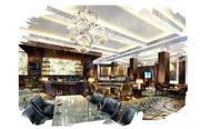 A rendering of the Royal Sonesta Houston lobby lounge after the $25 million renovation.