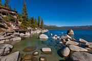Views across Lake Tahoe from an estate that once belonged to Howard Hughes. It is on the market for $19.5 million.