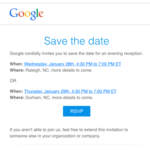 Google sends out 'Save the Dates.' Could it be Google Fiber?