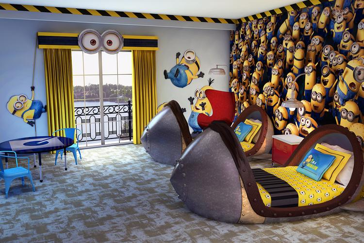 "Universal Orlando Resort is renovating its 18 kids' suites at its Loews Portofino Bay Hotel to be themed after the film ""Despicable Me."""