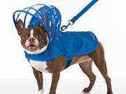 A dog raincoat sold by SkyMall