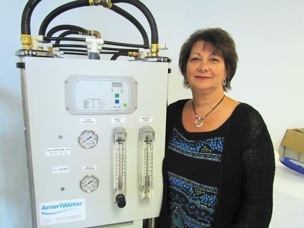 Uptick: Diane Dolan is CEO of Dayton-based AmeriWater, which expects sales to double in three to four years.