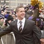 Ravens coach <strong>John</strong> <strong>Harbaugh</strong> dismisses rumors he may leave for Eagles
