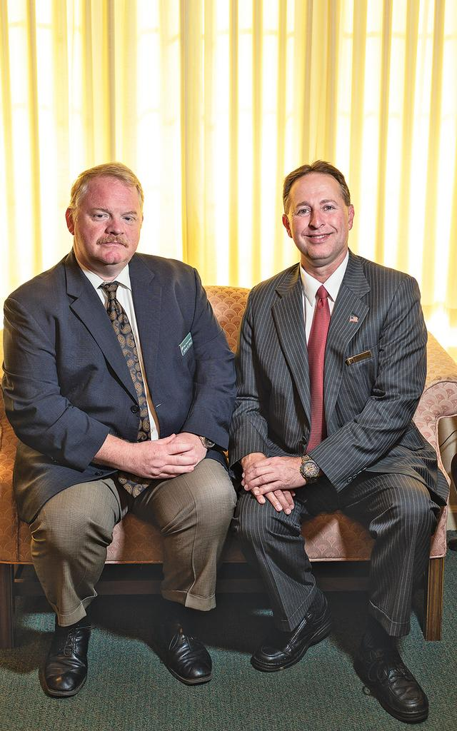 Jeffrey and Steve Eline, co-owners of Eline Funeral Homes.