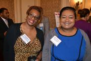 Ronnie Montgomery-Roper, left, of Boys Town Washington, D.C., with Janelle Williams of College Bound.