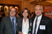 From left, Josh Carin of Geppetto Catering, Kathy Raffa of Raffa PC and Joe Persichini of the Washington, D.C. Police Foundation.