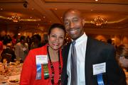 Debbi Jarvis, left, of Pepco Holdings, with Lionel Neptune of United Way.