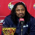 How <strong>Marshawn</strong> <strong>Lynch</strong>'s fake Skittles press conference went viral
