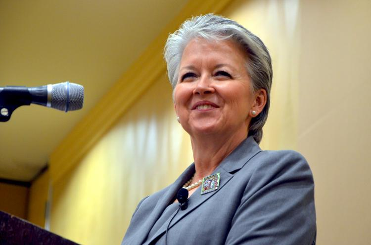 """Secretary of Commerce Sharon Decker was in Winston-Salem Thursday as part of her statewide """"listening tour."""""""