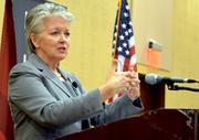 """""""To rebuild this economy, we need to be more proactive, and I don't know if we have the skills to address that,"""" Decker said at Triangle Business Journal's June Power Breakfast. She added that, while the area is known for its innovation, """"we do not have a good track record of commercialization of that research."""""""
