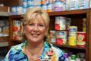 Maribeth Phillips, CEO of Meals on Wheels Plus of Manatee Inc., in the food bank area.