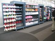 The Hudson News store replaces these racks of merchandise airside at O'Hare's Terminal 5.