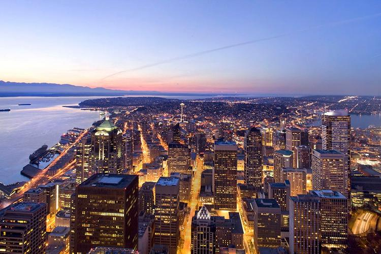 The view from the 73rd floor observatory at Columbia Center.