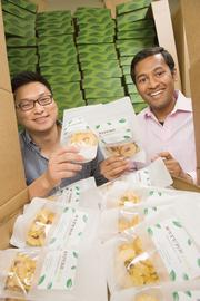 Thinking outside the snack box: NatureBox co-founders Ken Chen (left) and Gautam Gupta deliver healthy subscriber growth.