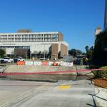 Roads, parking lot closed after Liberty Street collapse