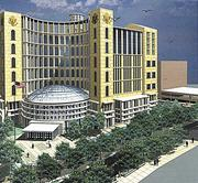 A rendering of the proposed new federal courthouse downtown.