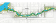 The 1.5-mile stretch of Waller Creek to be redesigned runs parallel to I-35 and along the border of the Central Business District and East Austin.