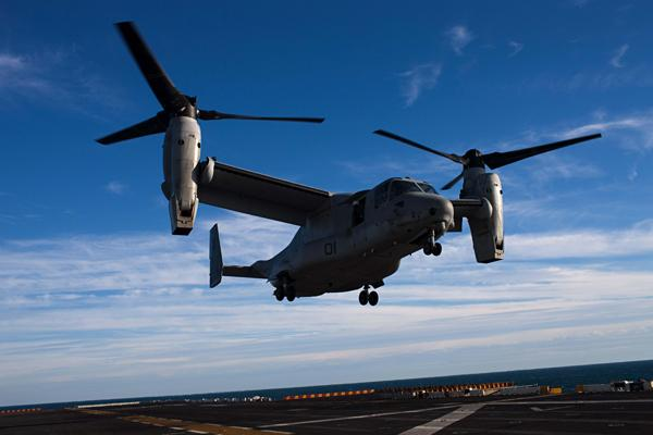 Hawaii defense contractors expect the Defense Department to award a contract for a $100 million facility at the Marine Corps Base Hawaii for facilities to house the MV-22 Osprey aircraft.