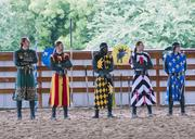 The Knights of Medieval Times Dallas train up to 40 hours a week to learn horsemanship, Chivalry and weaponry.