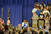 Obama cited Mooresville Middle School as an example for leveraging technology in education. The president said he wants high-speed broadband and wireless Internet access available at 99 percent of U.S. schools over the next five years, according to WBTV's report.