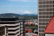 The 23rd floor of the Hilton Portland offers views in every direction, including toward Mount Hood.