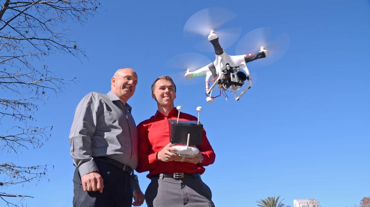 Father and Son enjoy a DJI Phantom purchased from DS Drones