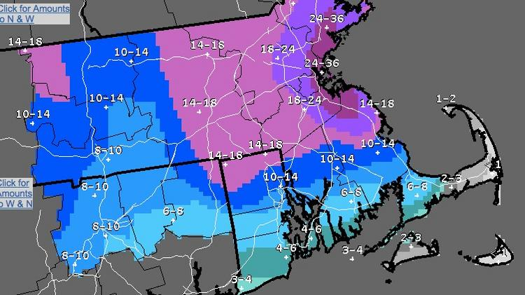Latest Snowstorm Exceeds Forecasts Expected To Wind Down Tonight - Us-weather-service-map