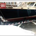 BBJ Live: Watch an 18-<strong>wheeler</strong> hauling <strong>a</strong> 36-foot boat block Summer Street in Boston (Video)