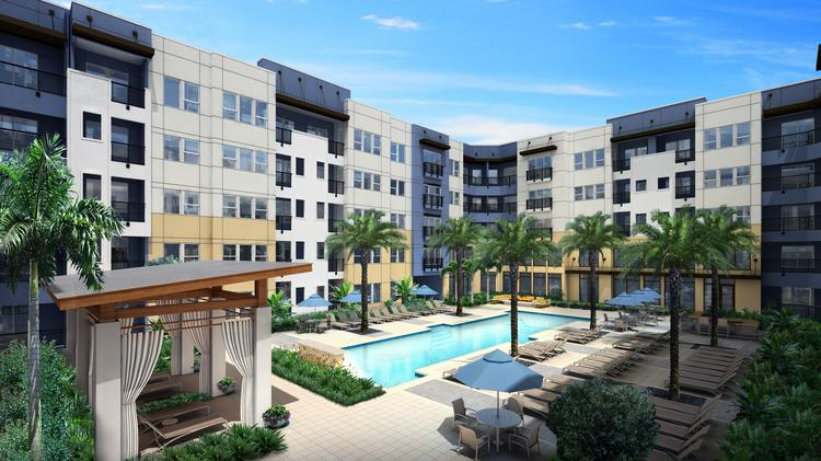 A Rendering Of The Pool At Aurora, Downtown Tampau0027s Newest Apartment  Complex.