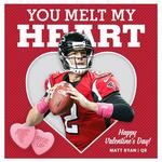 Falcons release Valentine's Day cards sporting player photos. (8 CARDS)