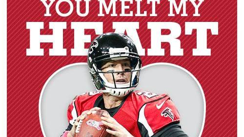 Falcons release Valentines Day cards sporting player photos 8 – Sports Valentines Cards