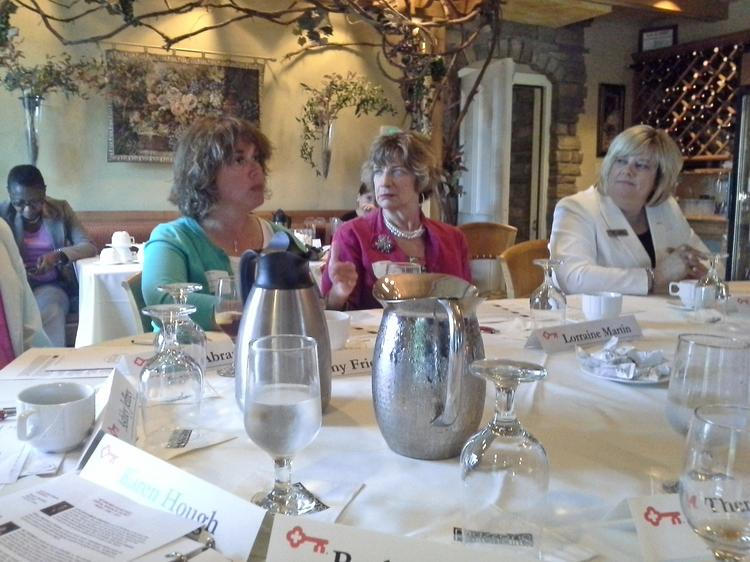 At a roundtable following the Key4Women forum June 6, participants included Amy Friedman, president of Broadblast Inc., Lorraine Martin, owner of M3 Signs Plus, and Frances O'Rourke, Albany market manager for Key Private Bank.