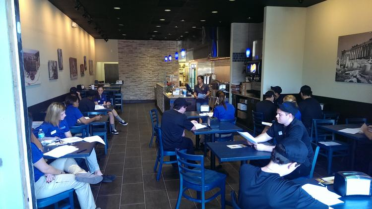 The interior of a Little Greek in Valrico, one of the newer units.