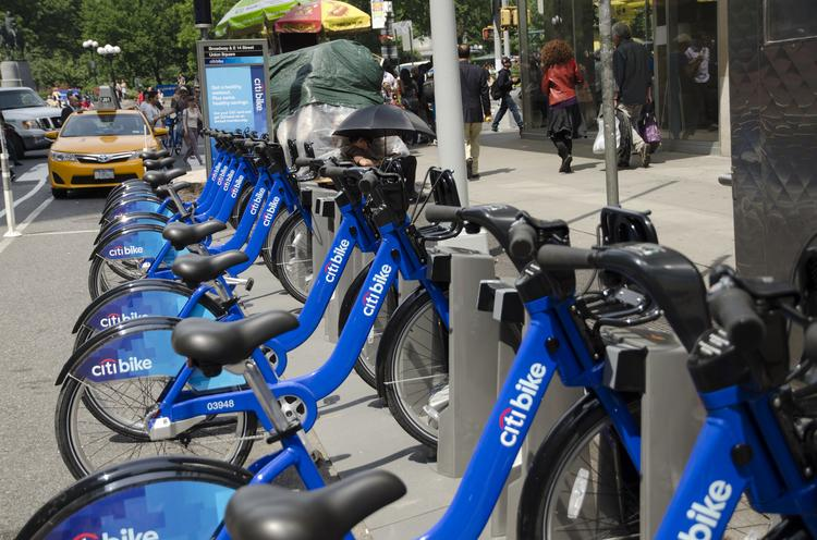 Citi Bike has rolled out to places like Union Square, in Manhattan, where the surrounding population is largely wealthier and whiter than the city as a whole.